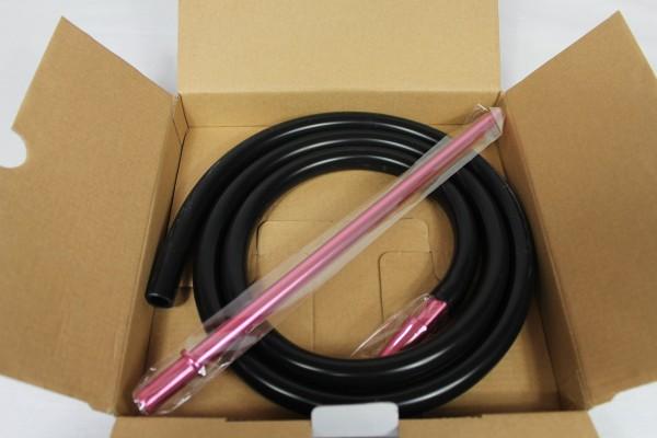 SK Silikonschlauch Set-Black/Pink