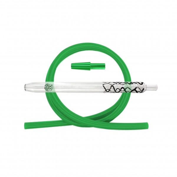 SK Magic Stripes-Black/White & Silikonschlauch Set - Green