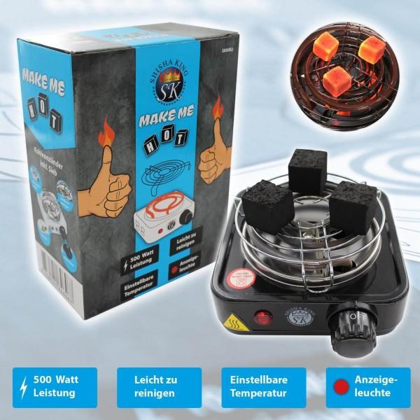 SKS Mini Kohlenanzünder (elektrisch) 500 Watt Black inkl. Kohlegitter