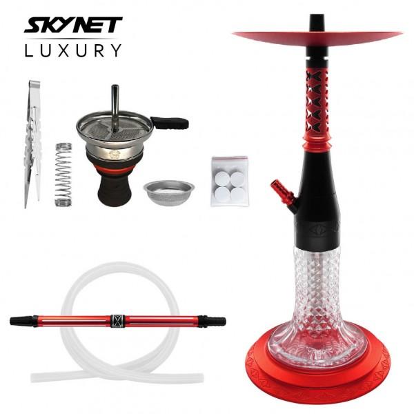 Skynet Luxury Shisha Wasserpfeife rot Set