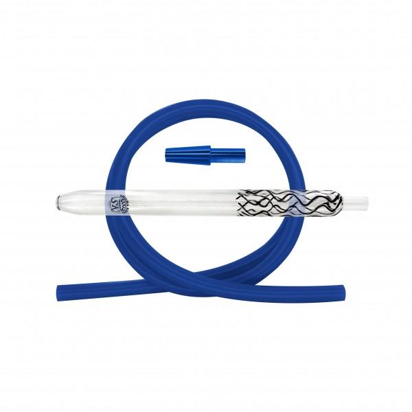 SK Magic Stripes-Black & Silikonschlauch Set - Blue