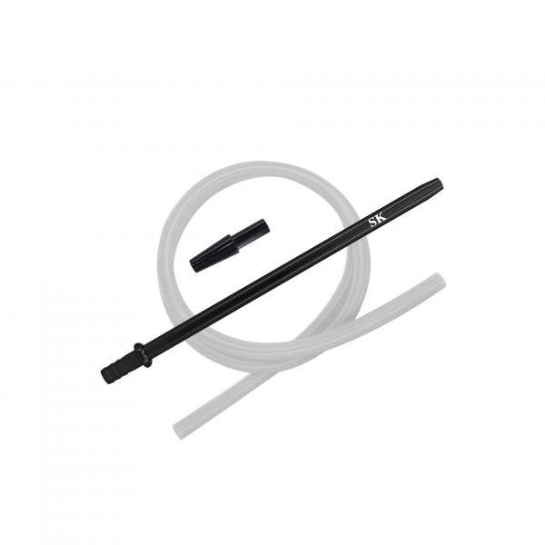 SK Silikonschlauch Set - Black/Silver