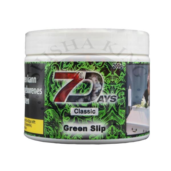 7 Days Classic Shisha Tabak 200g Green Slip