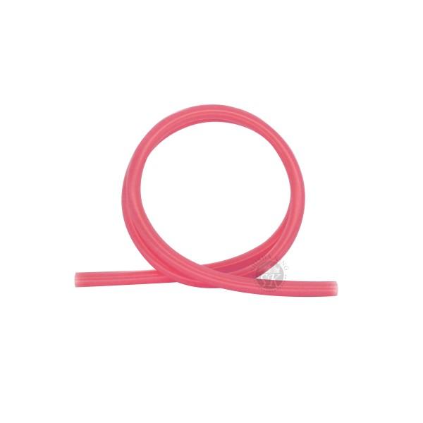 SKS Silikonschlauch glänzend - Red Transparent