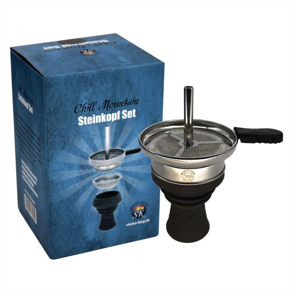 "Shisha King Steinkopf Set ""Chill Mountain"" - Black"