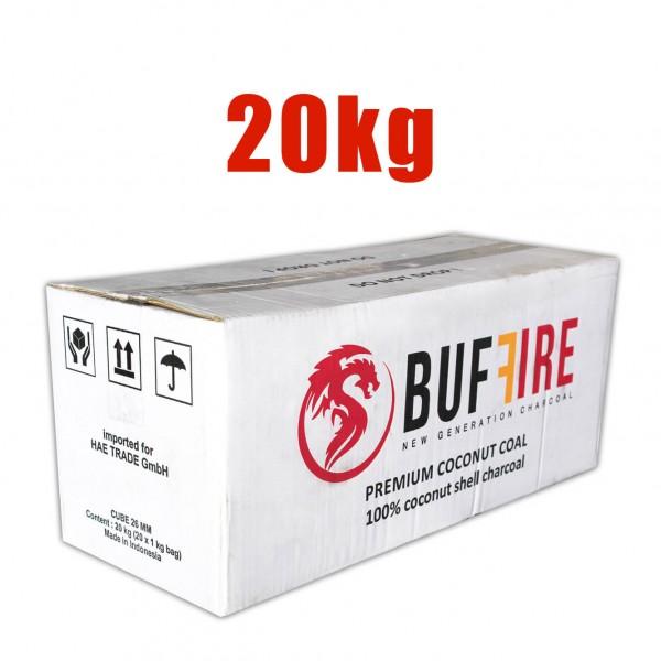Buffire Kokosnuss Naturkohle 20 Kg