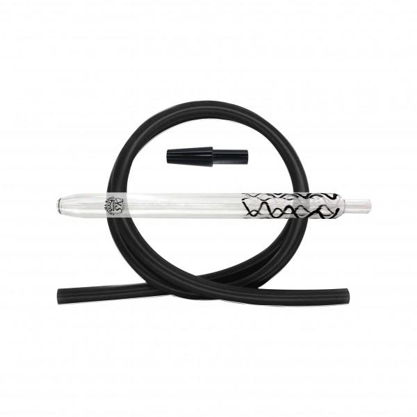 SKS Magic Stripes Silikonschlauchset - Black-White/Black