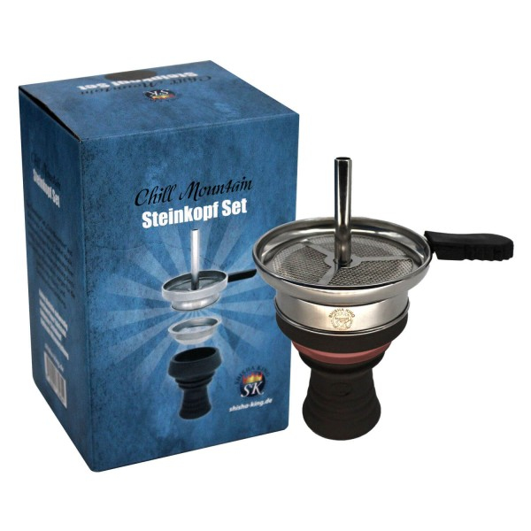 "Shisha King Steinkopf Set ""Chill Mountain"" - Rosa"