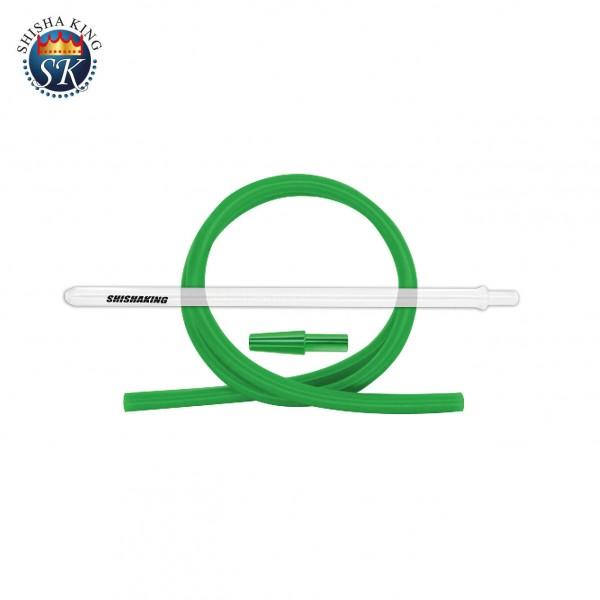 SK Glasmundstück round & Silikonschlauch Set - Green