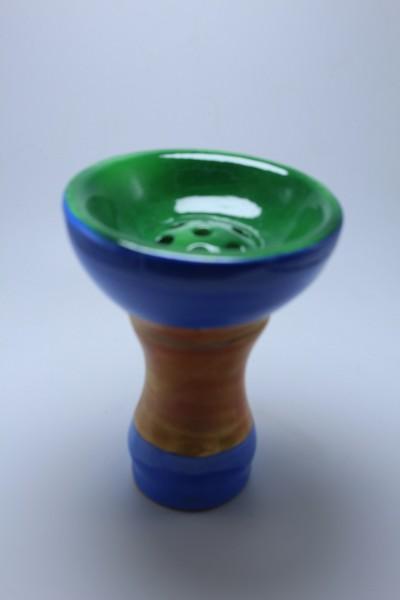 SK Ägypter Kopf-Green Blue Brown