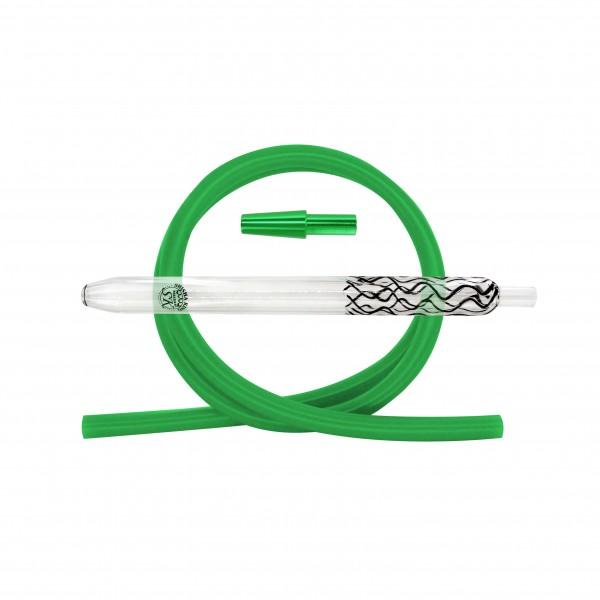 SKS Magic Stripes Silikonschlauchset - Black/Green
