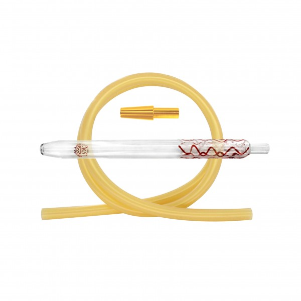 SK Magic Stripes-Red/White & Silikonschlauch Set - Gold