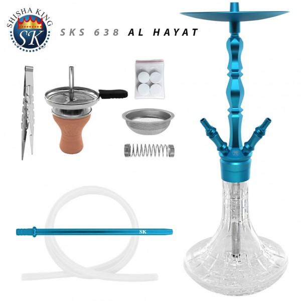 shisha-set-sks-638-al-hayat-skyblue-aluminium-wasserpfeife